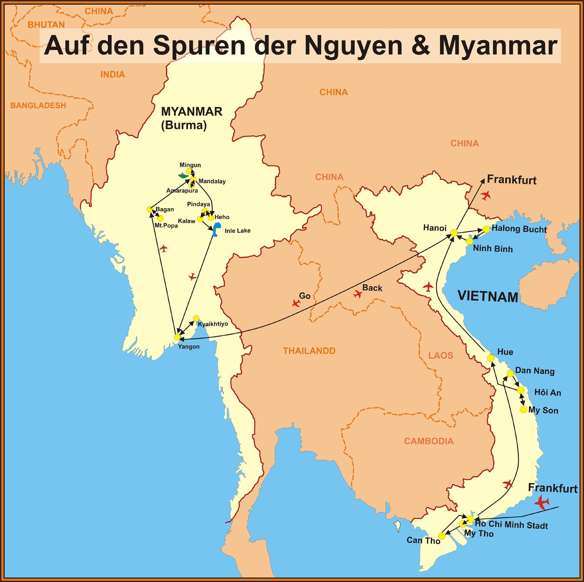 Laos Kambodscha Myanmar Vietnam Vietnam Reisen
